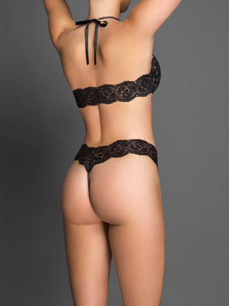 Bracli-ebony-night-thong-black-model-back-view