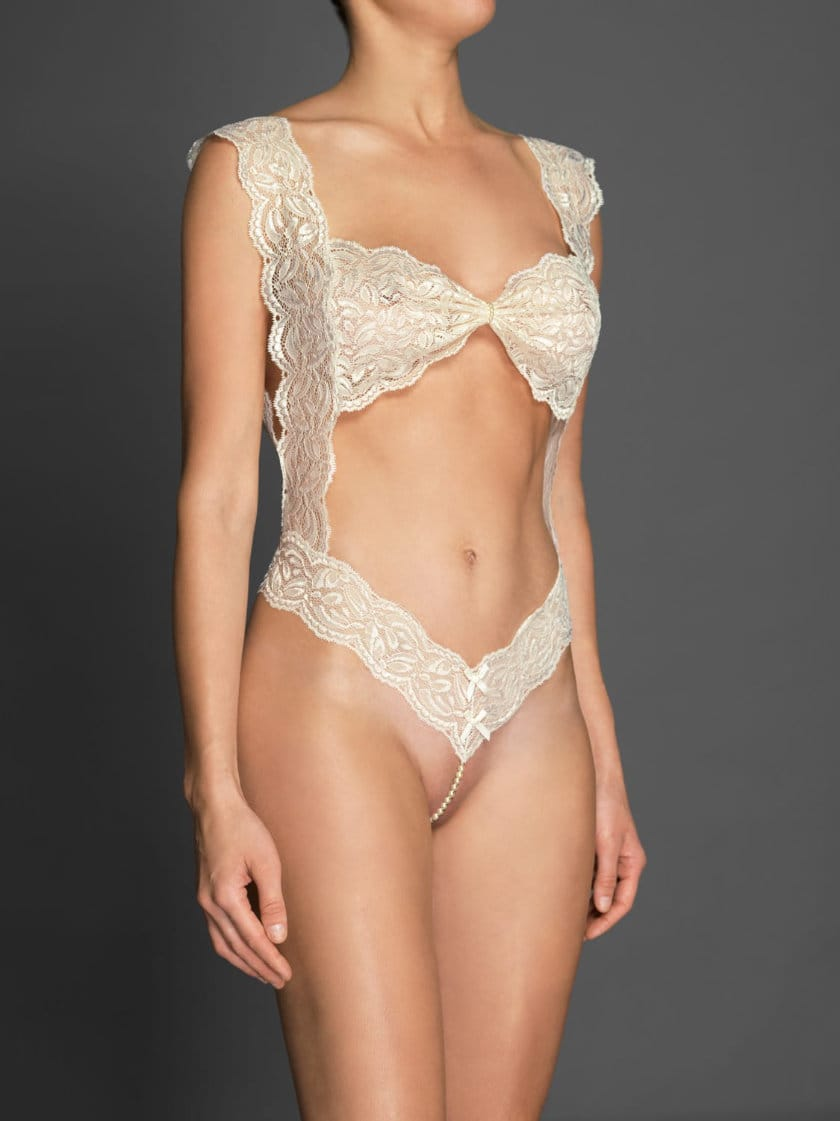 fad654f24e765 Classic Body by Bracli | Figure hugging French Lace & Pearl G String.