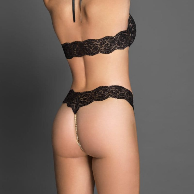 Bracli-your-night-thong-black-model-back-view