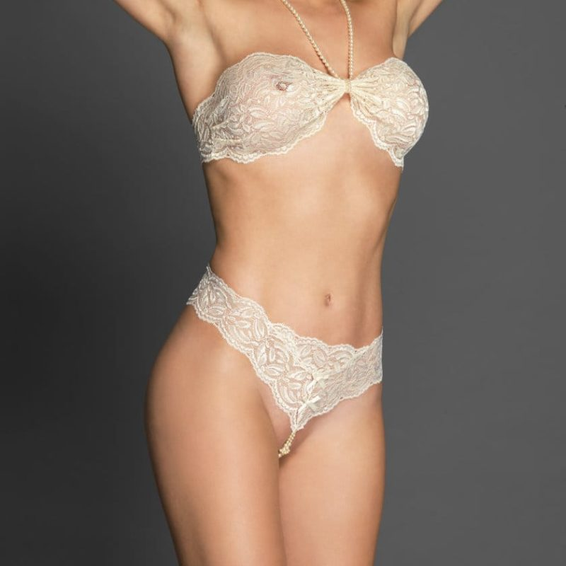 Bracli-your-night-thong-ivory-model-front-view