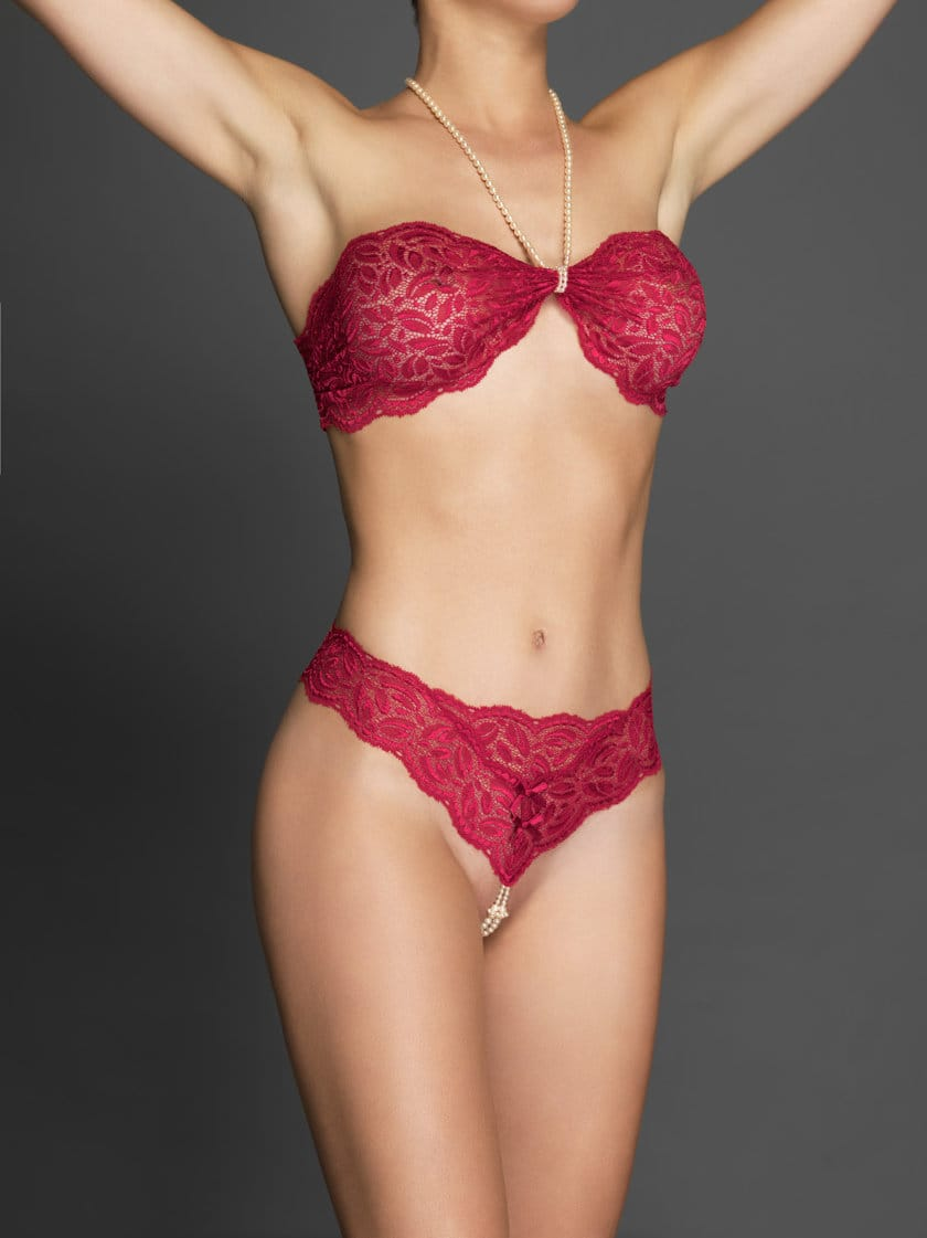 bcfb3d3932 Bracli-your-night-thong-red-model-front-view